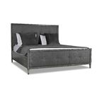 Korhonen Button Tufted Upholstered Panel Bed Size: California King, Color: Charcoal