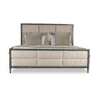 Korhonen Square Tufted Upholstered Panel Bed Size: California King, Color: Sand