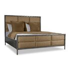 Faisan Square Tufted Upholstered Panel Bed Color: Brown, Size: California King