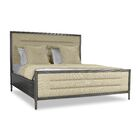 Faisan Horizontal Channel Tufting Upholstered Panel Bed Size: California King, Color: Sand