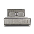 Korhonen Vertical Channel Tufting Upholstered Panel Bed Color: Gray, Size: Queen