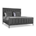 Faisan Vertical Channel Tufting Upholstered Panel Bed Color: Charcoal, Size: King