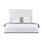 Handley Upholstered Platform Bed Size: High Height California King, Color: White