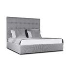 Handley Upholstered Platform Bed Color: Gray, Size: Mid Height King