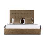 Handley Upholstered Platform Bed Color: Brown, Size: High Height King
