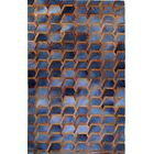 One-of-a-Kind Houghton-le-Spring Hand-Woven Cowhide Charcoal/Blue Area Rug Rug Size: Rectangle 10' x 14'