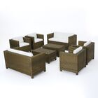 Kight 8 Piece Rattan Sofa Set with Water Resistant Cushions