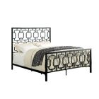 Orona Contemporary Panel Bed Size: King, Color: Black