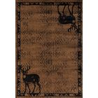 Pippen Deer Gaze Brown Area Rug Rug Size: Rectangle 7'10