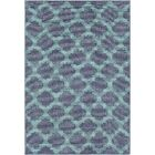 Pearce Trellis Charcoal/Teal Indoor/Outdoor Area Rug Rug Size: Rectangle 8'9