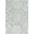 Eady Hand Hooked Wool Teal/Cream Area Rug Rug Size: Rectangle 8' x 10'