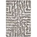 Witherell Hand-Tufted Gray/Cream Area Rug Rug Size: Rectangle 8' x 10'