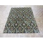 One-of-a-Kind Josephson Transitional William Morris Oushak Hand-Knotted Wool Brown Area Rug