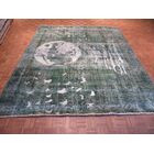 One-of-a-Kind Padro Moon Hand-Knotted Wool Light Green Area Rug