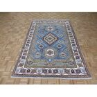One-of-a-Kind Padula Tribal Hand-Knotted Rayon from Bamboo Sky Blue Area Rug