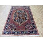 One-of-a-Kind Pellegrino Hand-Knotted Wool Red/Navy Blue Area Rug