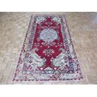 One-of-a-Kind Pagel Turkish Hand-Knotted Wool Red Area Rug