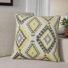 Karolyne Ikat Cotton Throw Pillow Color: Black/Yellow