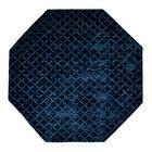 Teressa Diamond Hand-Woven Wool Teal Area Rug Rug Size: Octagon 5' x 5'