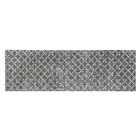Teressa Diamond Hand-Woven Wool Gray Area Rug Rug Size: Runner 2'x 6'