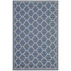Heskett Moroccan Quatrefoil Trellis Blue/Beige Indoor/Outdoor Area Rug Rug Size: Rectangle 5' x 8'