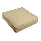 Indoor/Outdoor Sunbrella Dining Chair Cushion Fabric: Tan, Size: 30
