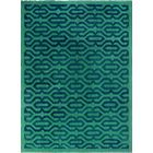 One-of-a-Kind Pennie Hand-Woven Wool Green/Blue Area Rug