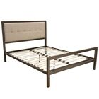 London Champagne Panel Bed Size: King