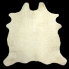 One-of-a-Kind Colebrook Long Hair Hand-Woven Cowhide White Area Rug