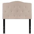 Fitz Cambridge Tufted Upholstered Panel Headboard Size: Full, Upholstery: Light Gray