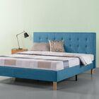 Atkison Button Tufted Upholstered Platform Bed Size: King