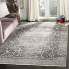 Mullens Persian Gray/Charcoal Area Rug Rug Size: Rectangle 8' x 10'