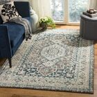 Dostie Gray/Blue Area Rug Rug Size: 6'-7