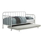 Reinhardt Industrial Daybed with Trundle Color: White