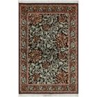 One-of-a-Kind Mulhall Floral Hand-Knotted Wool Black/Green Area Rug Rug Size: Rectangle 4'2