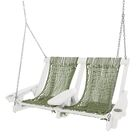 Coastal Duracorda Porch Swing Fabric: Olive, Finish: White