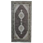 One-of-a-Kind Samons Gallery 250 kpsi Hand-Knotted Black Area Rug