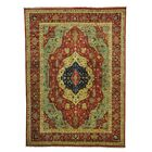 One-of-a-Kind Salzman Re-creation Hand-Knotted Red/Blue/Yellow Area Rug Rug Size: Rectangle 10' x 13'9