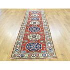 Sanjuana One-of-a-Kind Kazak Tribal Hand-Knotted Wool Red Area Rug Rug Size: Runner 2'8