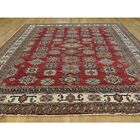 One-of-a-Kind Dorcey Super Kazak Hand-Knotted Wool Red Area Rug