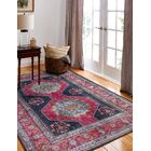 Dubbo Hand-Woven Dark Blue Area Rug Rug Size: Rectangle 7'7