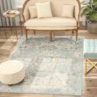 Chauncey Blue Area Rug Rug Size: Rectangle 3' x 10'