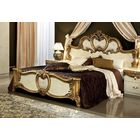 Straitson Upholstered Panel Bed Color: Ivory and Gold, Size: Queen