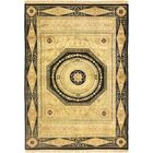 One-of-a-Kind Hand-Woven Wool Gold/Black Area Rug Rug Size: Rectangle 4'11