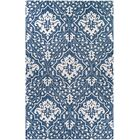 Fairgrove Hand-Woven Blue/White Area Rug Rug Size: Rectangle 5' x 8'