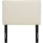 Patchway Box Seam Upholstered Panel Headboard Size: Twin, Upholstery: Sugar Snap