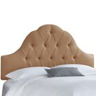 Dozier High Arched Diamond Tufted Upholstered Panel Headboard Size: King