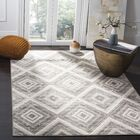 Coghill Gray/Ivory Area Rug Rug Size: Rectangle 9' x 12'