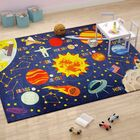 Weranna Outer Space Safari Road Map Educational Learning Blue Indoor/Outdoor Area Rug Rug Size: 8'2