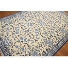 Greenford Wool Off White/Blue Area Rug